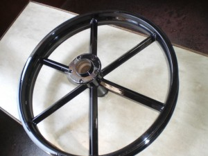 MC PECKERS INVADERWHEEL Blackout PowderCoating