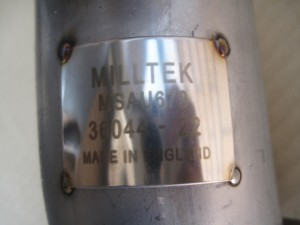 MILLTEL Sport Exhaust Downpipe ThermalBarrer (Cerakote )