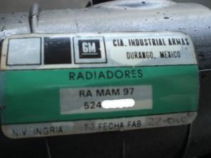 99 CHEVROLET TAHOE RADIATOR
