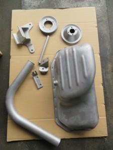 BMW parts powder coating