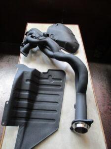 HONDA S2000 無限Exhaust manifold&Heat Shield CERAKOTE BLACK ICE