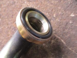 バスクーラー A/Cホース修理